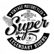 Постер, плакат: Vintage Motorcycles graphic