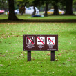 Постер, плакат: Prohibition signs in the park