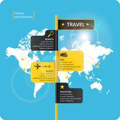 Plakát na prodej výletů a zájezdů