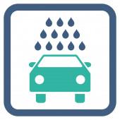 Mytí aut ploché vektorové ikony