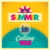 Colorful summer background Vector illustration