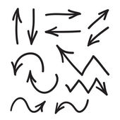 Arrows vector hand drawn set icons illustration perfect for web office right left up and dow