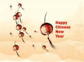Chinese New year lantern vector illustration