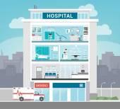 Kórházi osztályok épület