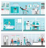 Hospital and healthcare infographics