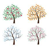 Beállítása fák négy évszak