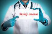 Orvos tartja a kártya nevét a diagnózis - vesebetegség