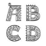 Постер, плакат: Vintage set of initial letters