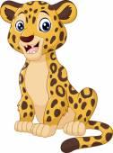 Vector illustration of Cute leopard cartoon