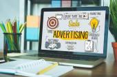 Reklamní koncepce na obrazovce
