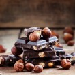 Постер, плакат: Dark chocolate with hazelnuts