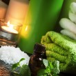 Peppermint essential oil in a Spa concept