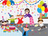A vector illustration of Happy Birthday Party Perfect for birthday card party card and many more