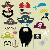 A vector illustration of Set of Pirates Elements Perfect for birthday card party card and many more