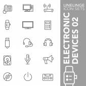 Thin line icon sets Electronic Devices