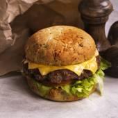 Single beef cheeseburger