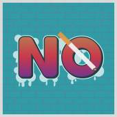 No Smoking sign on grunge brick wall background for May 31st World No Tobacco Day Vector Illustration