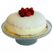 Finom eper torta kókuszos fehér alapon