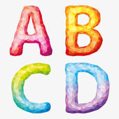 Vector  colorful abstract alphabet Letters A B C D