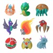 Постер, плакат: Fantasy monsters vector set
