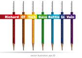 Ceruzák, a szivárvány színeit. Richárd York megütköztek, hiába