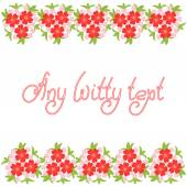 Cute funny background border frame with bunch of flowers isolated on the white fond With space for invitations or different events greeting cards text Vector illustration eps 10