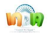 Indian Republic Day celebration concept. — Stock Vector