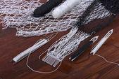 сшивание сетей рыболовных