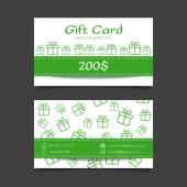 Gift card vector template — Stock Vector