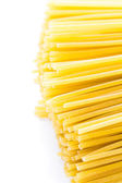 Organic yellow spaghetti pasta — Stock Photo