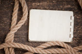 Paper and rope — Stock Photo
