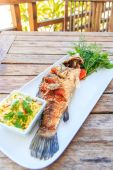 Fried Fish Thail Food — Stock Photo