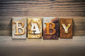 Baby Concept Letterpress Theme — Stock Photo