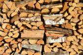 Piled firewood — Stock Photo