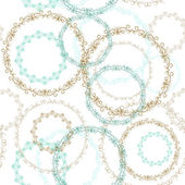 Vintage seamless patern, blue brown circle on white background. Vector — Stock Vector