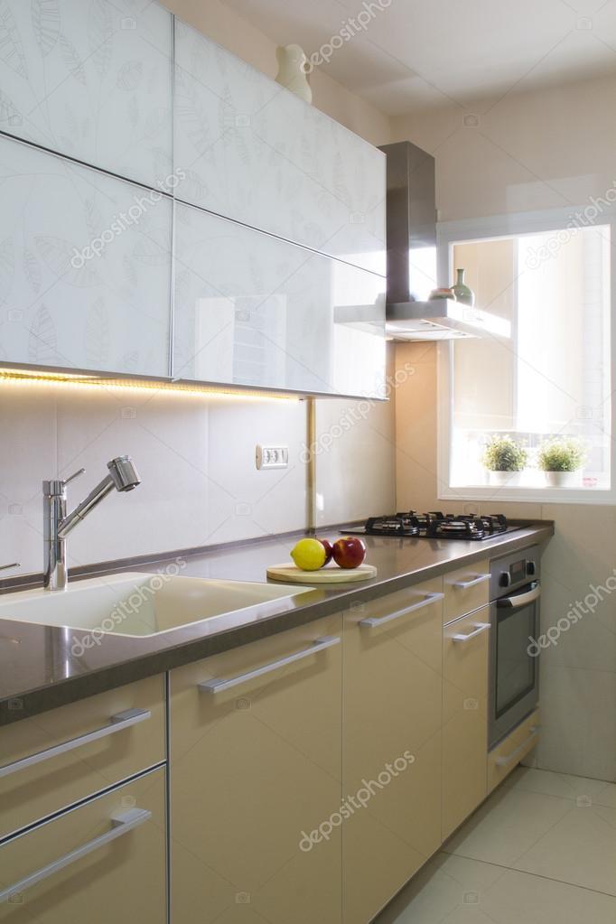Cozinha Moderna Nas Cores Bege E Creme Stock Photo K45025 102367568