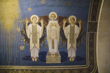 "Картина, постер, плакат, фотообои ""фрески в преображенской церкви ретро"", артикул 61887029"
