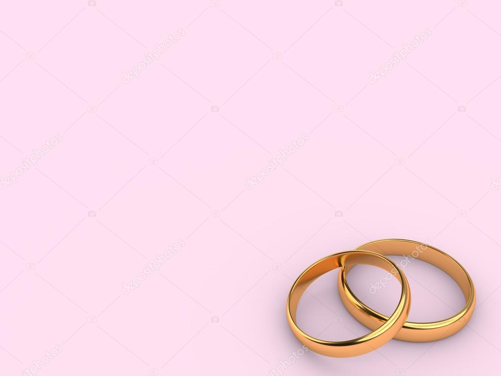 Two wedding gold rings with blank space — Stock Photo © alexkalina ...