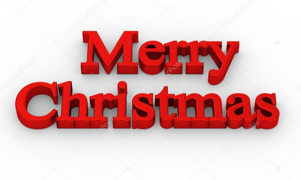 Buon Natale 3d.Testo 3d Di Buon Natale Foto Stock C Alexkalina 93405570