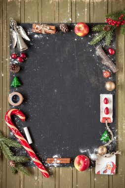 Christmas template dusted with snow