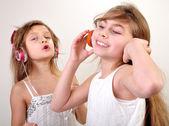 děti poslechu hudby