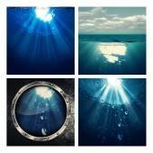 Fotografie sada mořského prostředí