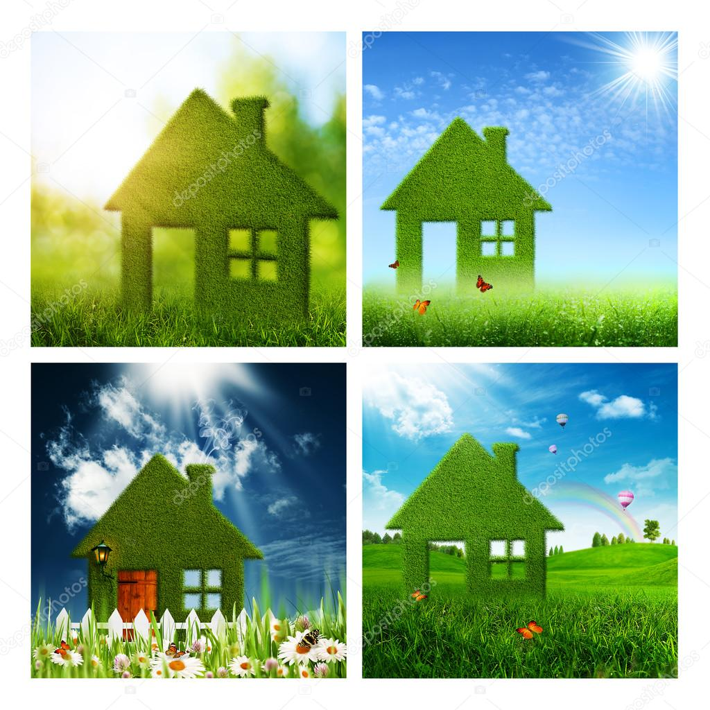 Set of eco and environmental backgrounds