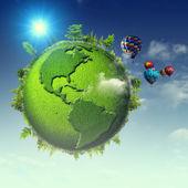 Absztrakt zöld bolygó eco háttér