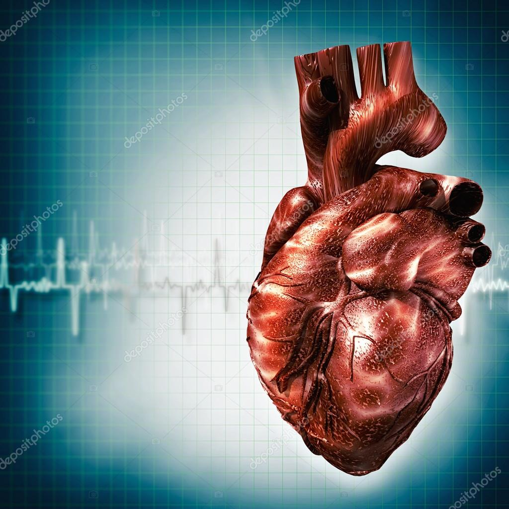 Medical background with human heart