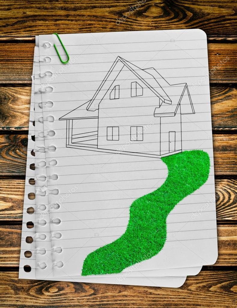 Papier Pagina Op Het Hout Textuur Achtergronden Stockfoto