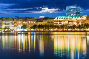 Night view of Hamburg, Germany