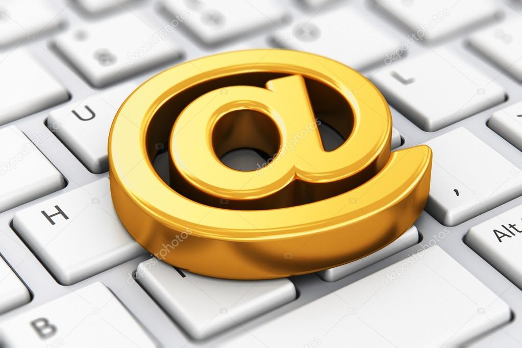 Email At Symbol On Computer Keyboard Stock Photo Scanrail 109620836