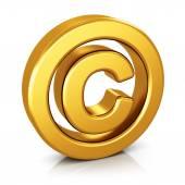 Copyright symbol isolated on white background