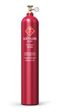 Liquefied acetylene industrial gas cylinder